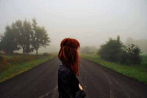 alone-girl-hair-pretty-red-road-favim-com-98100